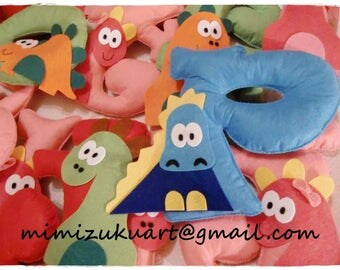 letras de fieltro, letras dinosaurio, felt letters, dinosaur letter, funny dinosaur letter