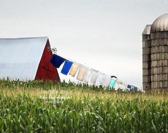 Lancaster, PA Laundry Day Amish Farm 5x7 8x10 11x14