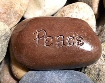 Peace Inspirational Stone