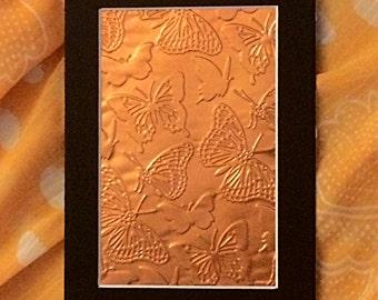 Fluttering Butterfly Copper Emboss Metal Art