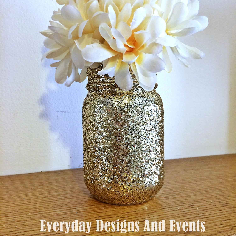 Gold Mason Jar Decor, Baby Shower Ideas, Baby Shower Decorations, Wedding,  Wedding Decorations, Wedding Centerpieces, Party Supplies, Decor