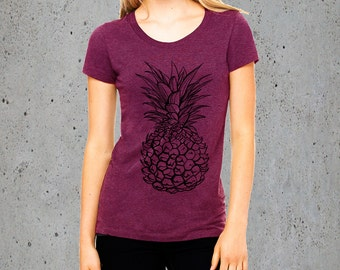 Pineapple T Shirts For Women, T Shirt For Youth Street T-shirts Hipster T Shirt Gift T-shirts, Girlfriend Gift Ideas Christmas Gifts For Her