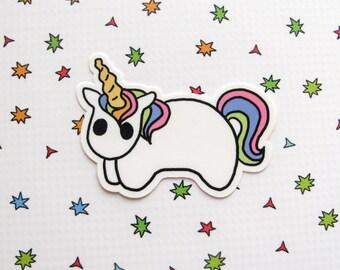 Rainbow Unicorn Magnet, Pony Fridge Decor, Refrigerator Magnet, Kitchen Decor, Unicorn Gift, Cute Horse Magnet, Rainbow Hair, Magical Decor