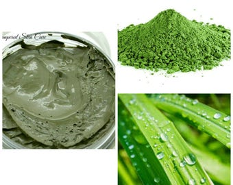 Organic Matcha Green Tea Mask with Lemongrass - 2 oz Jar, Purification, Promotes Clear, Well-Hydrated and Youthful Skin