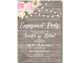 PRINTABLE Engagement Party Invitation, Engagement Party Invitation, They're Engaged, We're Engaged, Engagement Party Invitation #CL138