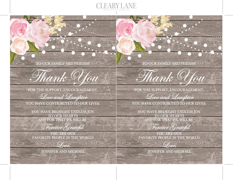 Thank You Note Template DIY Wedding Thank You Wedding Thank You – Microsoft Thank You Card Template