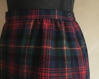 Vintage Pendleton Skirt Plaid Wool Tartan