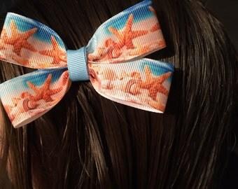 Beach (Seashells) Hair bow