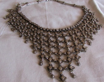 Sterling Silver Bali Style Bib Necklace