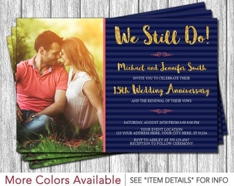 Vow Renewal Invitation - Wedding Vow Renewal Invitations
