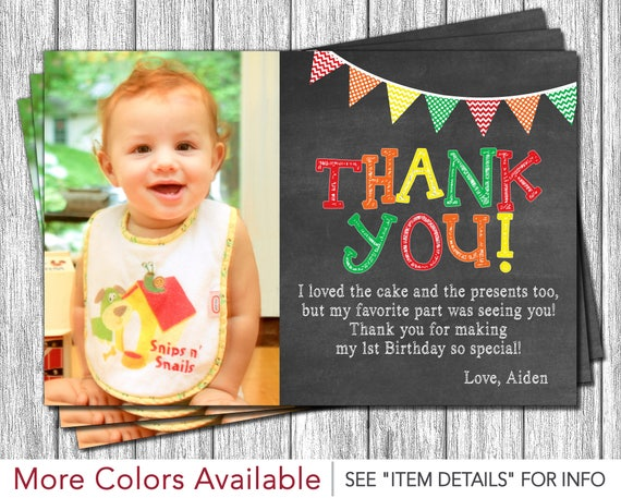 il_570xn - First Birthday Thank You Cards
