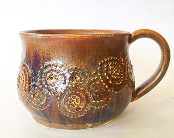Carved Ceramic Mug (12 fl oz)
