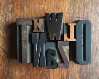 Vintage Letterpress Letters