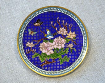 Vintage Cloisonné Pin Tray