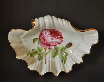 FURSTENBURG DISH in the form of a shell 200mm across very good condition
