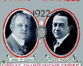 New York Yankees World Series Poster 1922