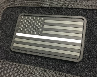 Thin White Line US Flag Patch - Ghost Edition