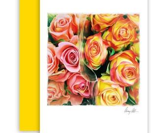 Bundels of Love  Note cards beautiful Artwork roses