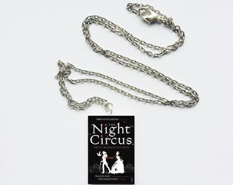 Night Circus mini book necklace