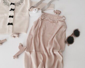 Chaconia Dolls kids linen dress size 3t. & 6