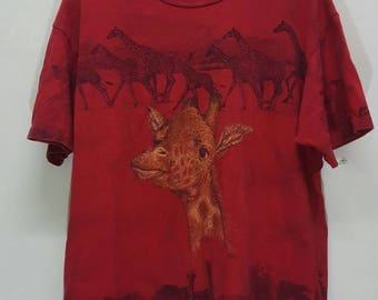 Vintage Fullprint  Giraffe shirt