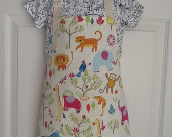Childrens lined apron
