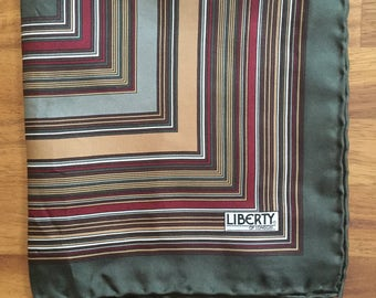 Vintage 1970s Liberty of London Pocket Square Handkerchief