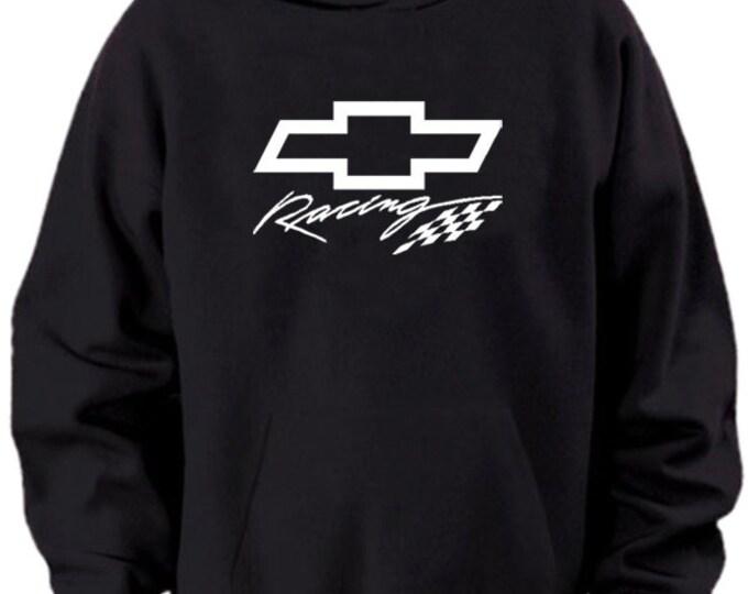 Chevy Racing Logo Black Hoodie Sweater