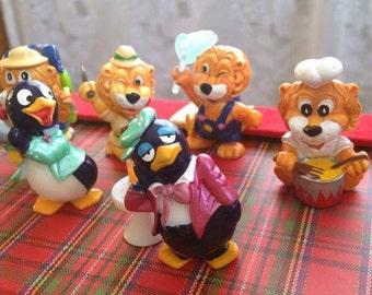 Vintage kinder surprise toys. Collection of Lion kider toys. Vintage egg Toys. Kinder surprise toys set.