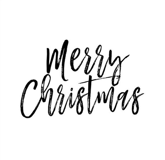 Merry Christmas Text Overlay Clip Art PNG Transparent