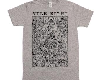 "Vile Eight ""Hell"" T-shirt - Grey"