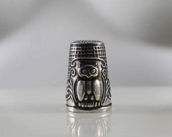 Sterling Silver Owl Thimble
