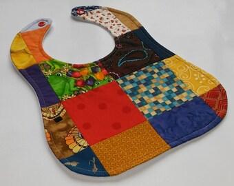 Patchwork Baby Bib - Multicolor
