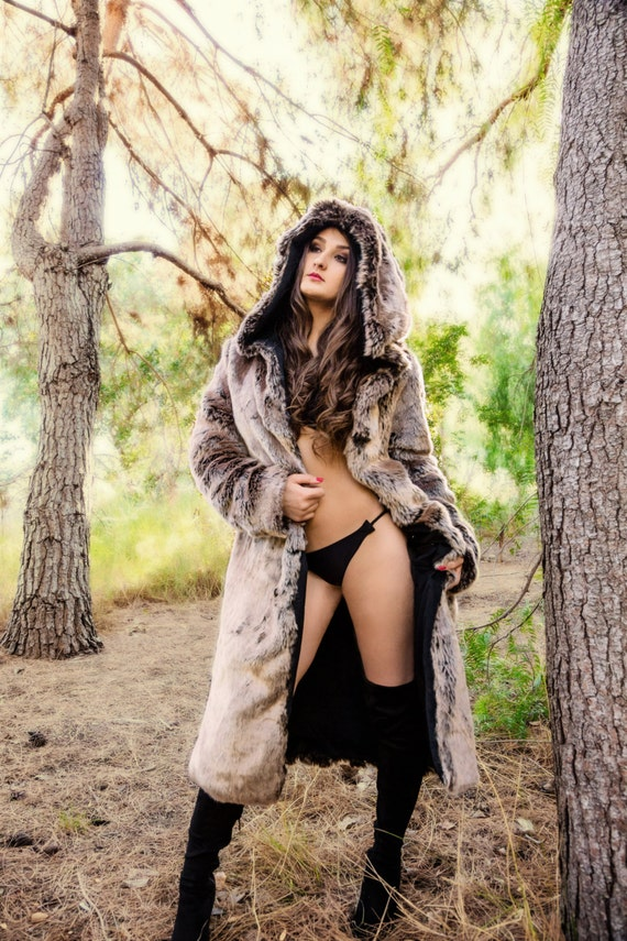 Sex with wife in fur coat