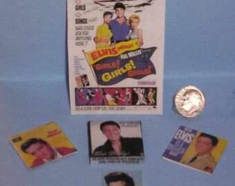Dollhouse Miniature Elvis Presley Souvenir Set