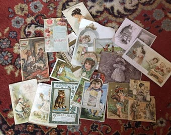 Victorian Scrapbook 20 pc Lot Craft Destash