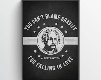 Albert Einstein Poster, Albert Einstein Print, Albert Einstein Art, Albert Einstein Decor, Home Decor, Gift Idea