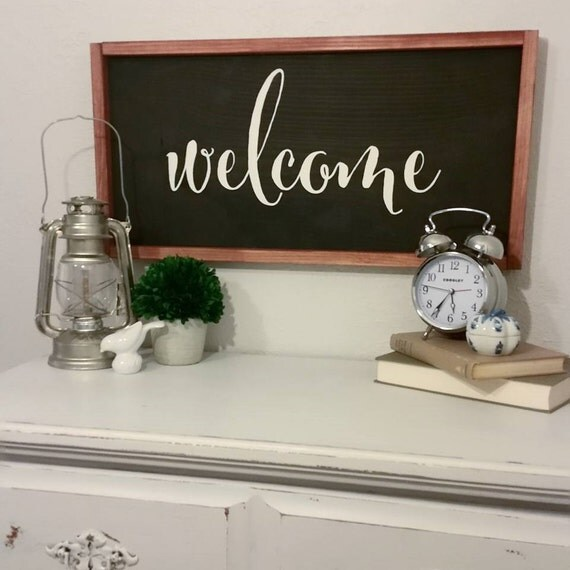 Welcome Wood Sign {Customizable}