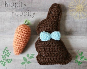 Easter Bunny Decor - Mini Chocolate Bunny - Guy w/ Bow Tie