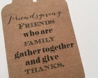 Kraft Friendsgiving Thanksgiving Set of 8 Gift Tags Favor Tags-Ships in 3-5 days!