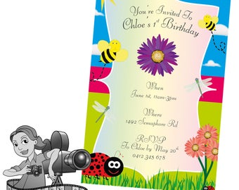 Spring Garden Party Invites