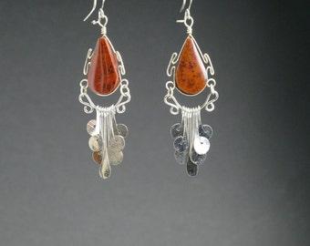 fashion earrings dangle earrings silver earrings drop earrings gift for her handmade earrings fashion jewelry earrings  long earrings @11