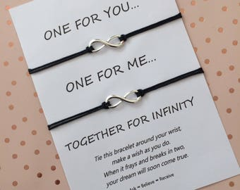 Infinity Wish Bracelet - Infinity String Bracelet - Infinity Bracelet- Infinity Charm Bracelet - Infinity Charm - Gift for Couple
