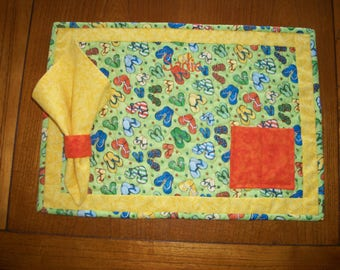 Kid's Placemat and Cloth Napkin - Customize for Girls and Boys with any Interest or Occasion