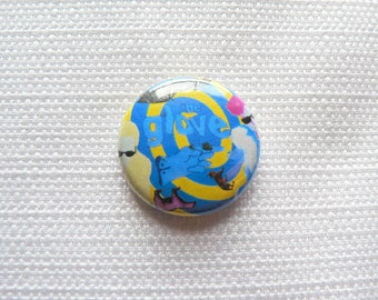 Vintage 80s The Glove - Robert Smith and Steven Severin - Like An Animal Single - Promotional Pin / Button / Badge