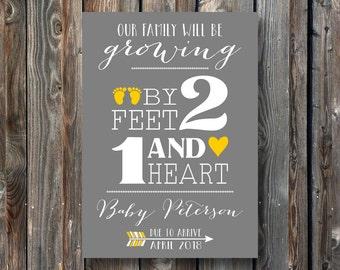 PRINTABLE Pregnancy Announcement Card–Pregnancy Announcement Sign–Pregnancy Reveal Sign-PRINTABLE Baby Announcement Sign-Pregnancy Card-PA06