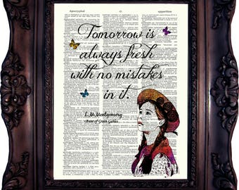 Anne Of Green Gables Poster Classic Book Quotes Literature
