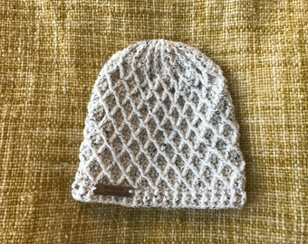 Crochet Lattice Beanie - Adult