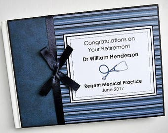 Personalised Doctor Retirement/Wedding/Occassion Guest Book