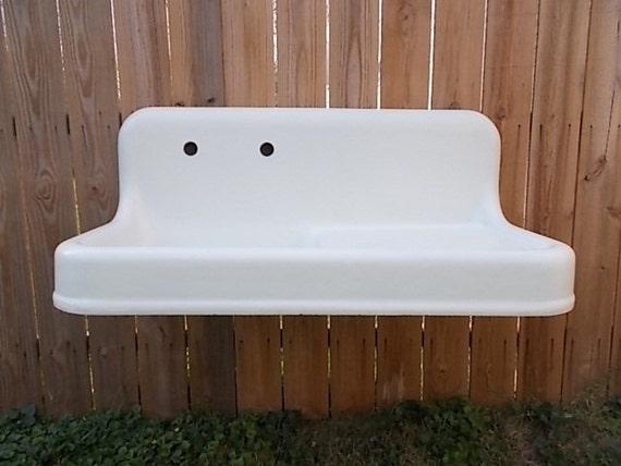 Vintage Apron Sink : Vintage Cast Iron Farm Sink Antique Farmhouse Sink Righthand ...